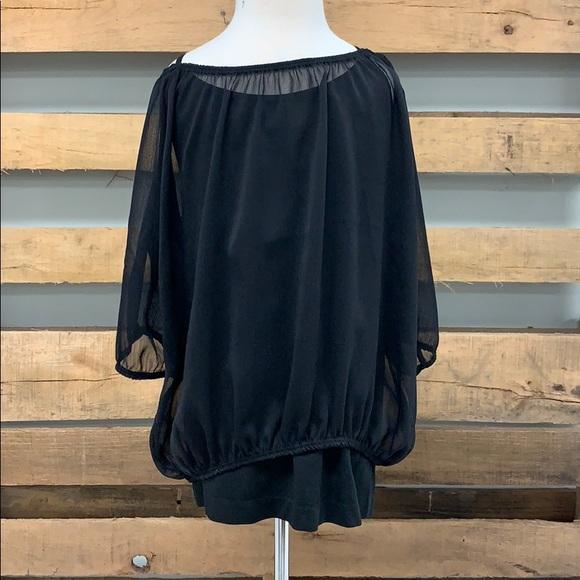 lori & jane Other - Girls black, sheer shirt.